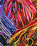 Sample of colorful yarn